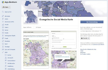 Social Media Map im Appzentrum